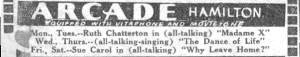 Aracde Theatre Baltimore Ad