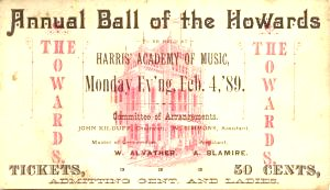 Ball of the Howards Academy of Music Baltimore
