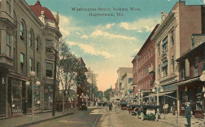 Hagerstown                 Maryland, Washington Street 1920's