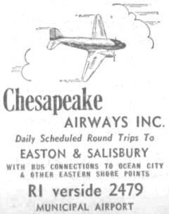 Chesapeake Airways Baltimore