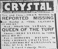 Crystal Theatre Ad Baltimore