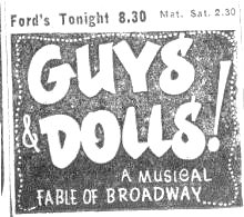 Guys and Dolls - Ford's Theatre Baltimore