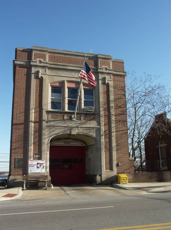 Baltimore firehouse Annapolis Road