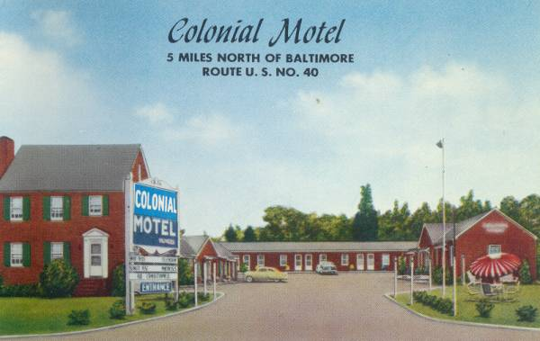 Colonial                     Motel Baltimore