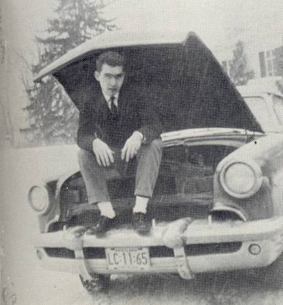 1961 Boys Latin Student with car Baltimore