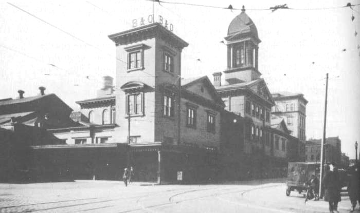 Camden Station Baltimore early days