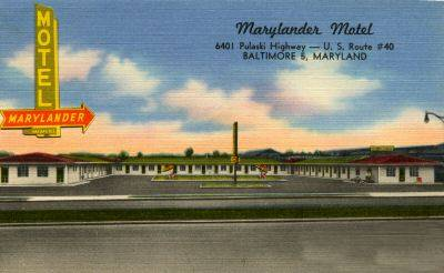 Marylander Motel Baltimore Rt 40 PC