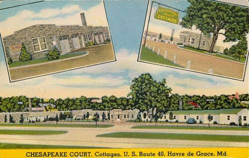 Chesapeake Court Motel Havre de Grace Maryland Rt 40