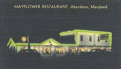 Mayflower Restaurant Aberdeen Rt 40 at night
