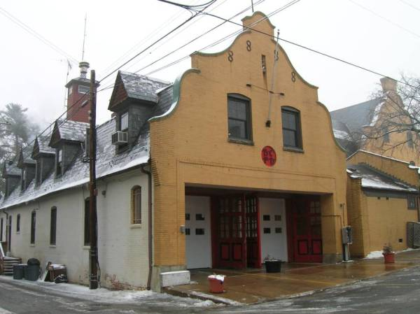 Baltimore firehouse Upland Avenue