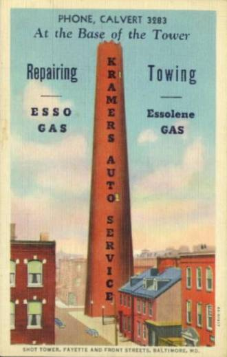 Shot Tower Esso Ad