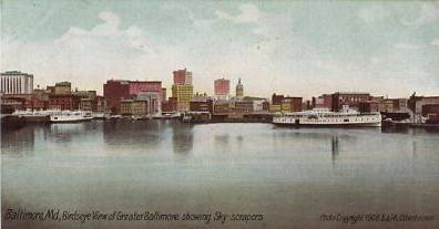early               picture of Baltimore harbor