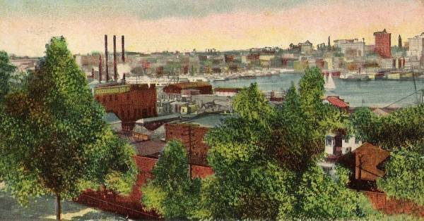 Old view from Baltimore Harbor